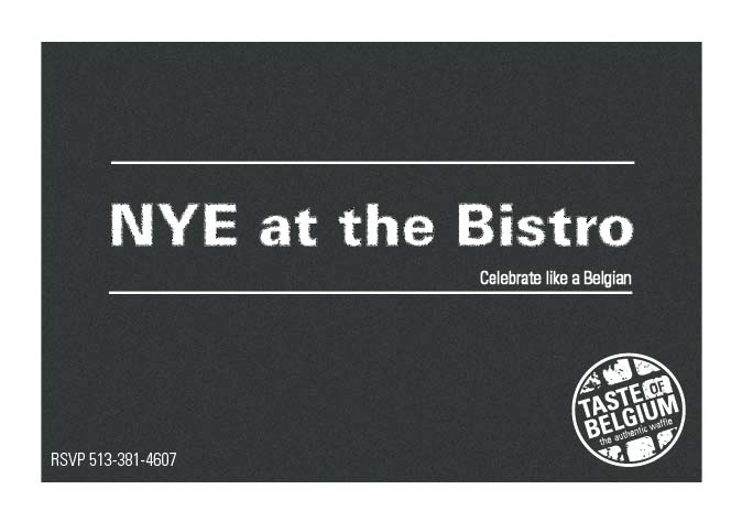NYE 2012 at the bistro