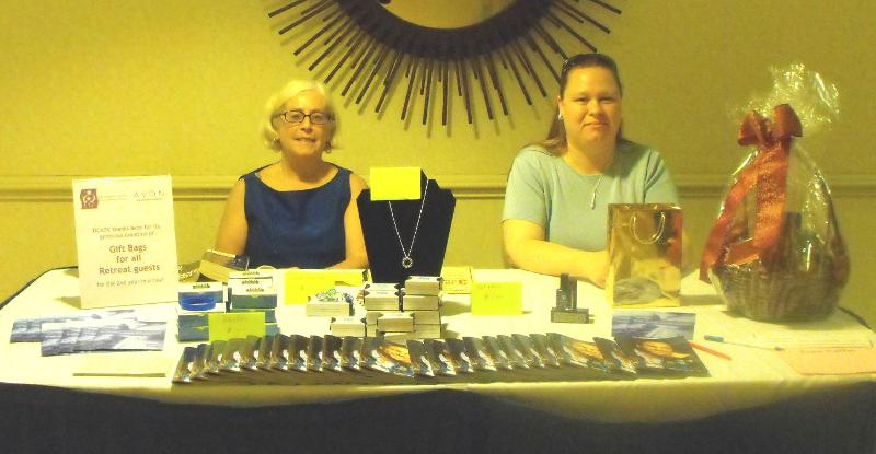 Avon table at Avocates' Retreat
