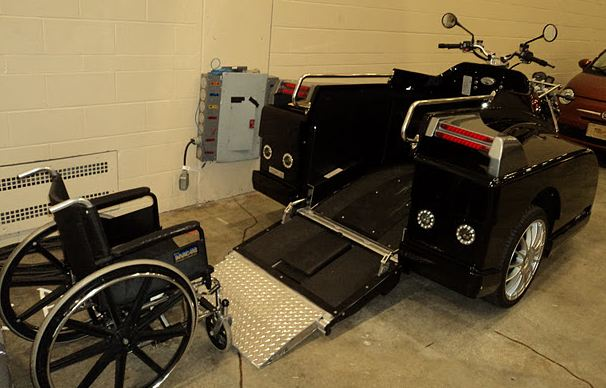 Wheelchair accessible motorcycle by Ride-Away.