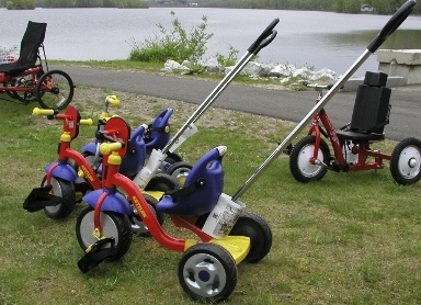 Adapted trikes for little kids