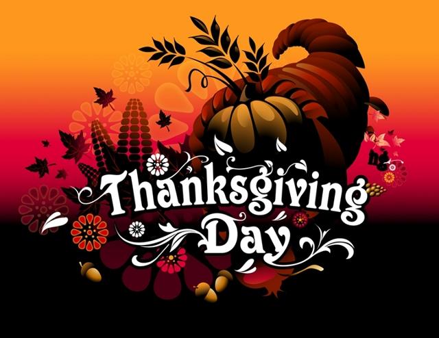 'Thanksgiving Day' with cornucopia