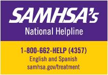 SAMHSA's Helpline 1 800 662-4357