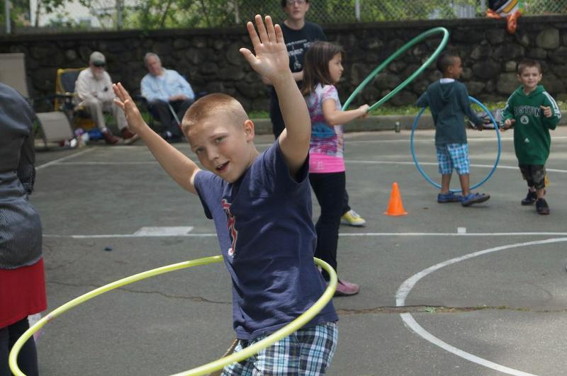 boy with hula hoop