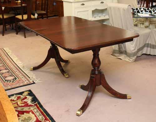 Mahgany Double Pedestal Dining Table. U003eu003e