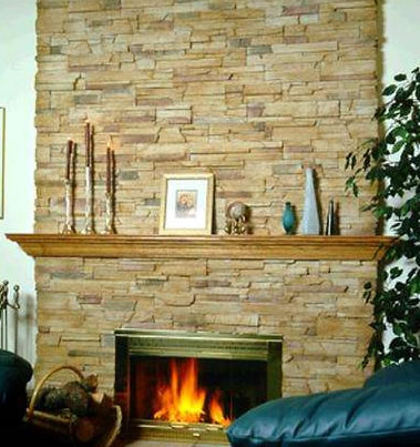 Cultured Veneer Fireplace