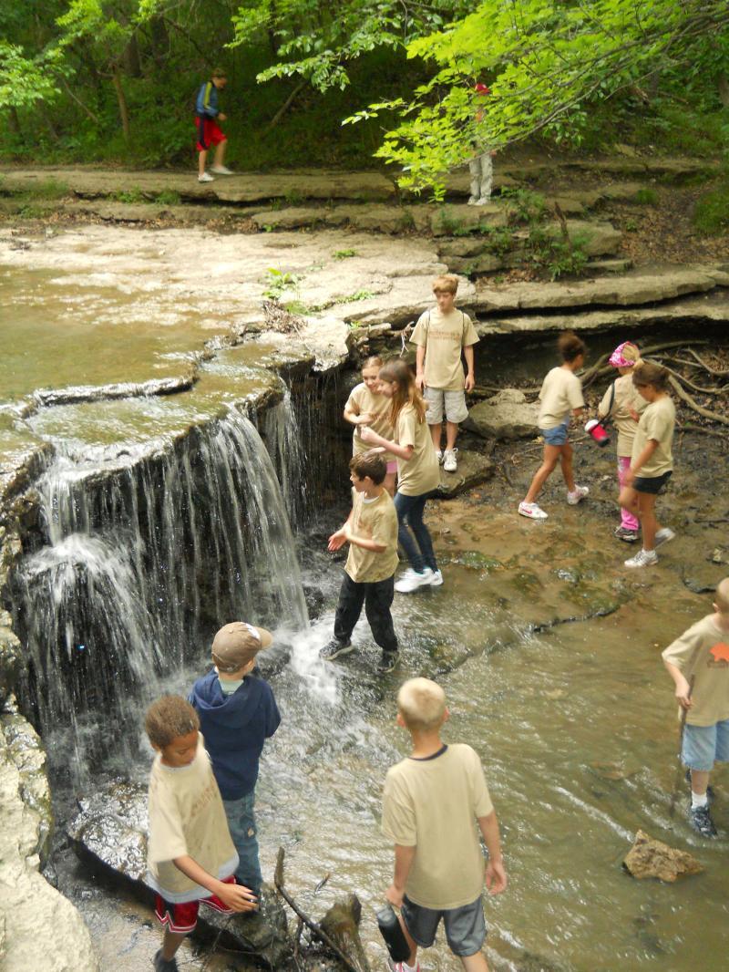 at waterfall
