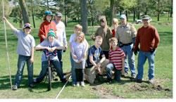 Boy scout tree planting