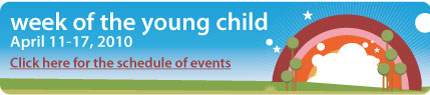 Week of the Young Child Banner & Schedule of Events