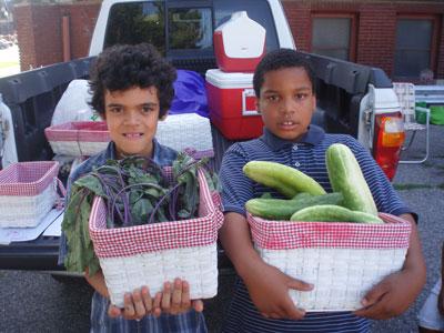 Joey Morgan & Ezekeo Daniels participate @ Farmer's Market at St. Paul UCC