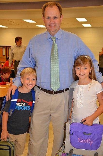 Hendricks ES Principal with Students