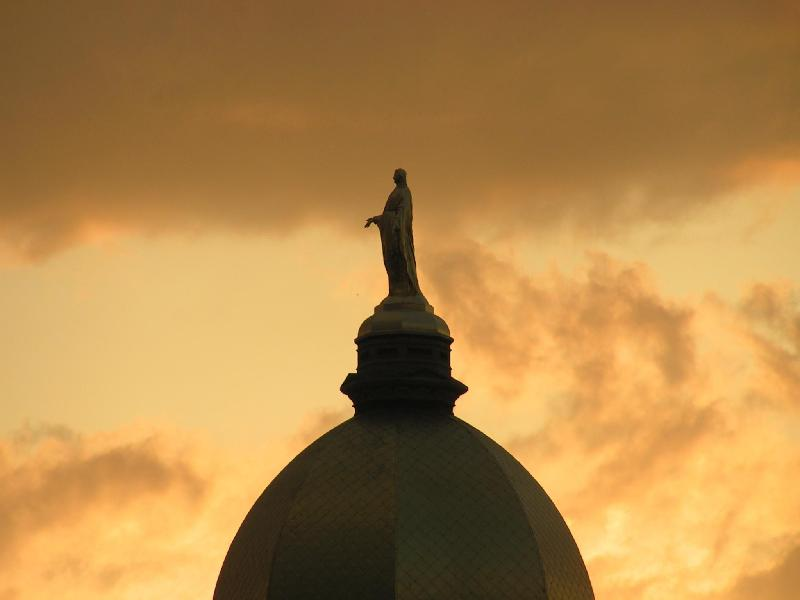 Notre Dome at sunset
