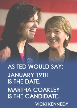 Vicki Kennedy and Martha Coakley