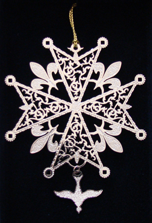 Huguenot Cross Ornament by Tom Pollard