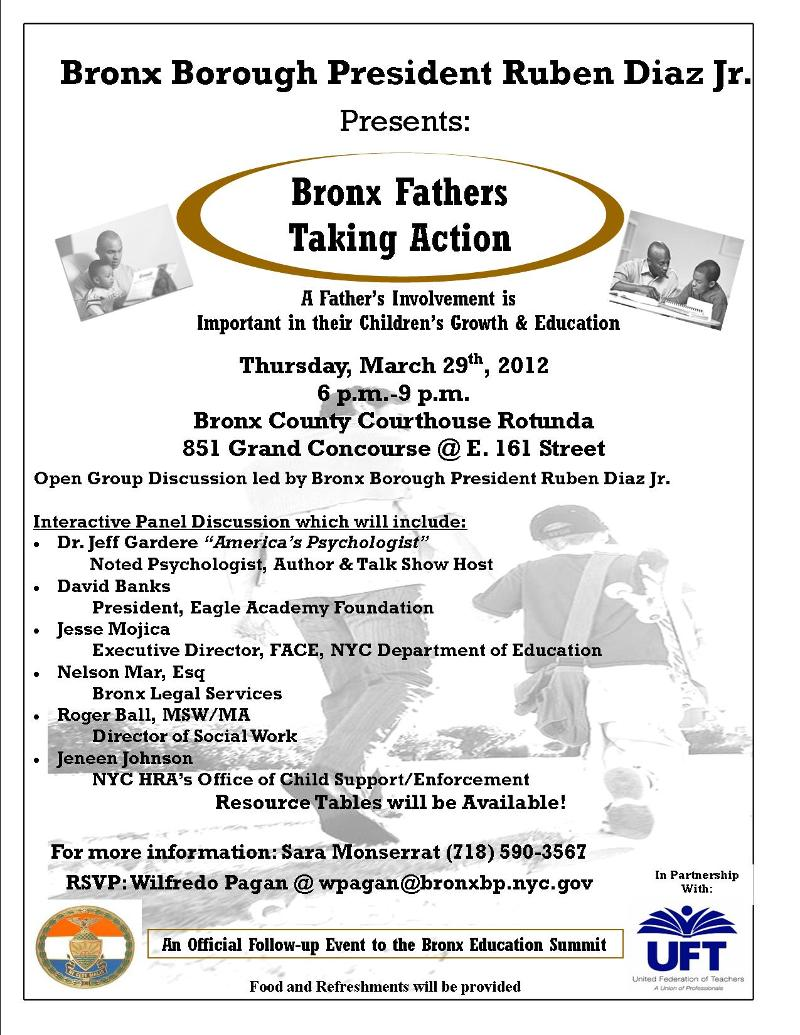 Bronx Father Taking Action Flier 2012