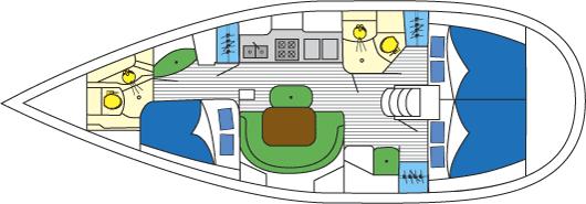 Beneteau 393 layout