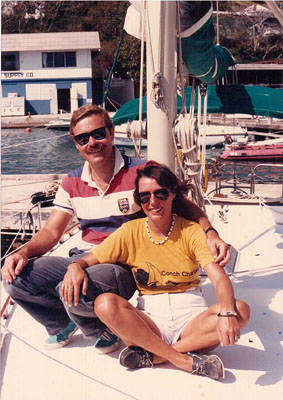 Cindy and Brian in 1987