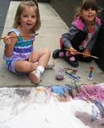 PK paints outside