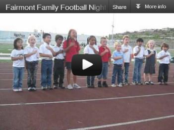 Fairmont Family Football Night Video