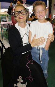 Mrs. Bauman at the Sock Hop 2012