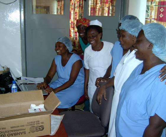 Nurses at Computer