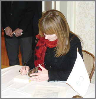 First Lady of Georgia at Book Signing