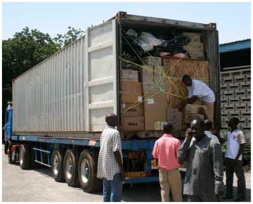 Unpacking Equipment Container