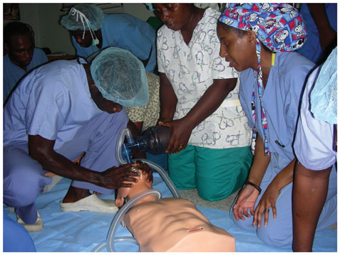 Mandisa Jones-Haywood teaches CPR