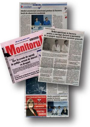 Romania Newspaper Collage