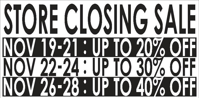 closing discount schedule