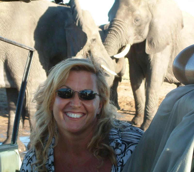 Sharon Pincott with her Beloved Elephants