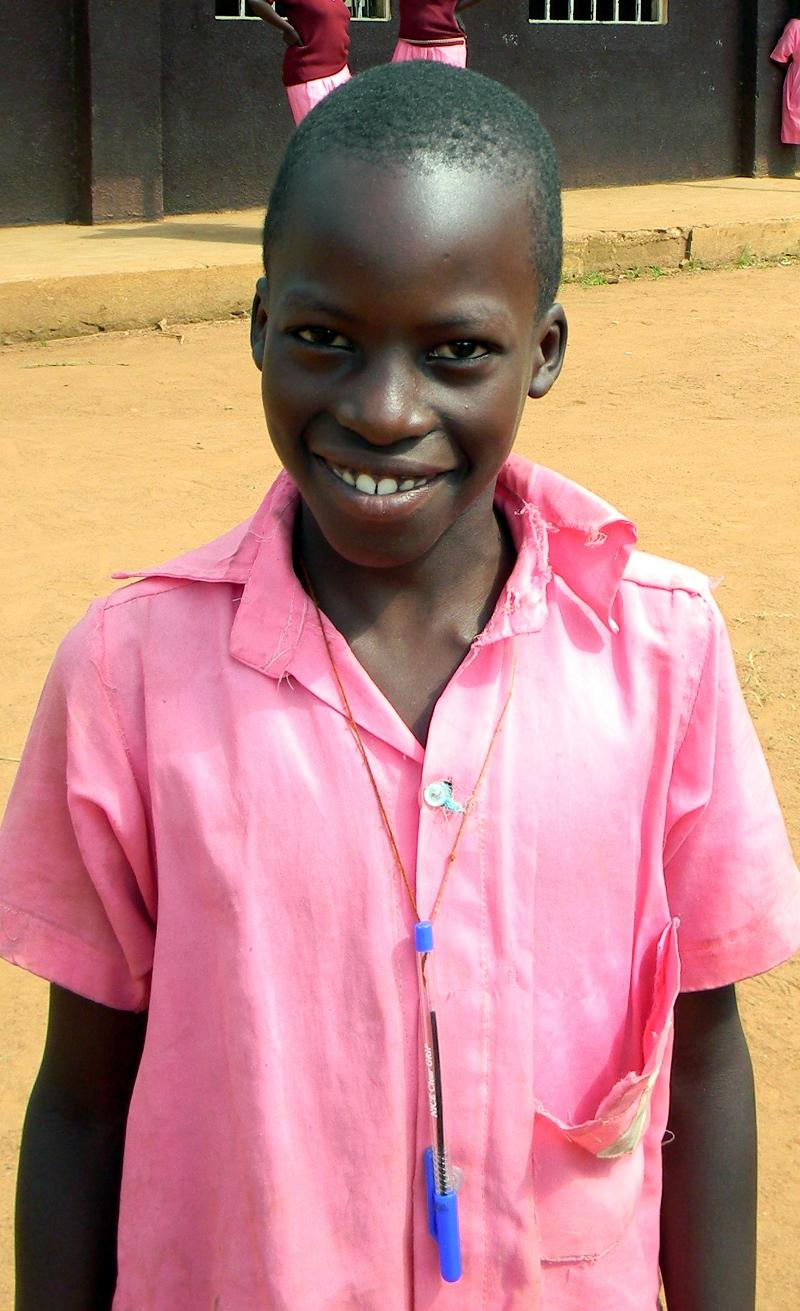 Caleb, a student at Ekitangaala Ranch Primary School