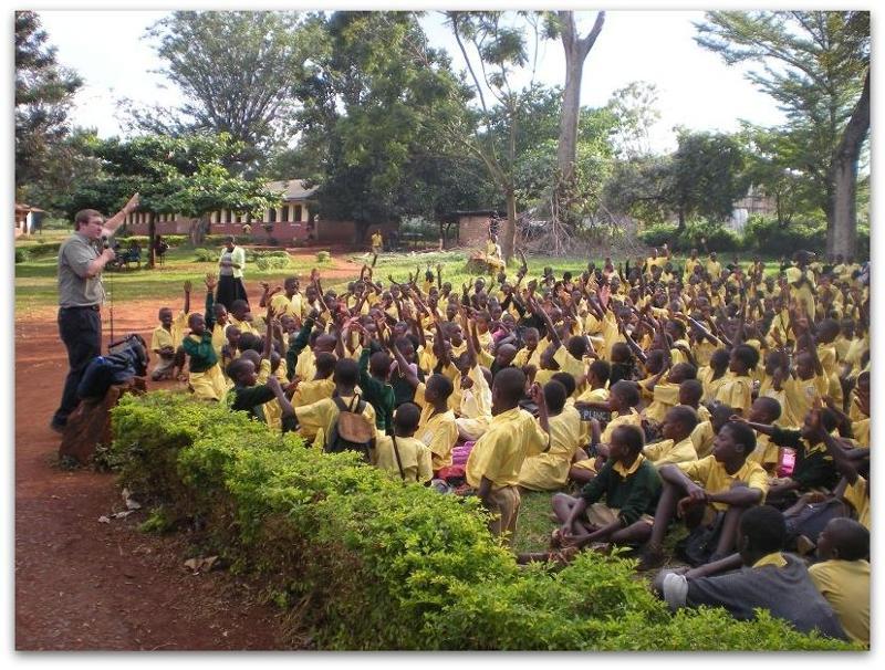 Steve Stockwell speaking in Uganda