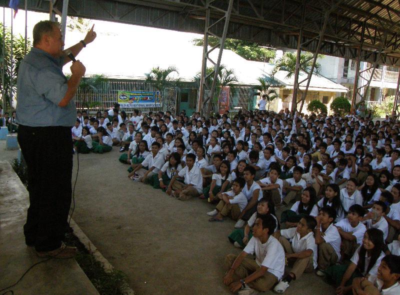 David Stockwell preaching the Gospel, Philippines