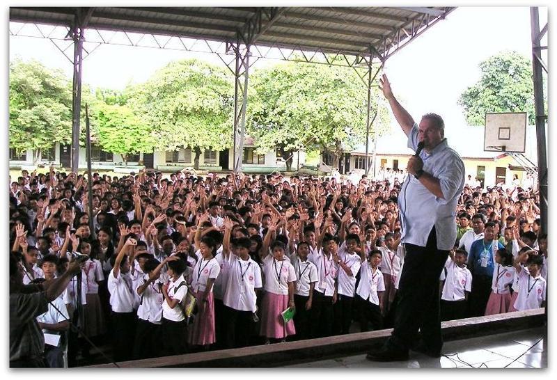 David Stockwell Speaks Out School Program, Cavite, Philippines