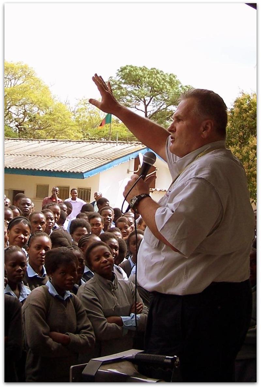 David Stockwell preaching the Gospel