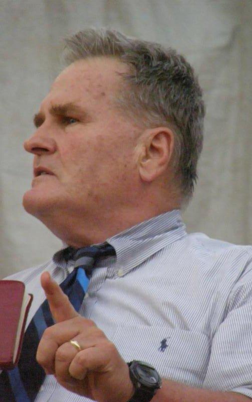 David Stockwell preaches the Gospel