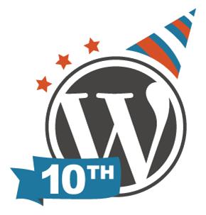 WordPress 10th birthday