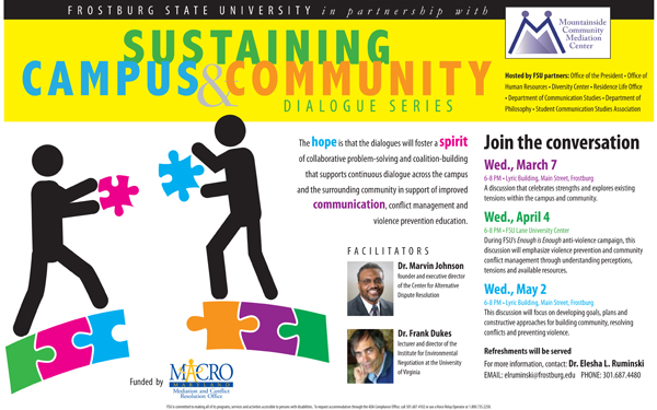 Sustaining Campus & Community Dialogue Series