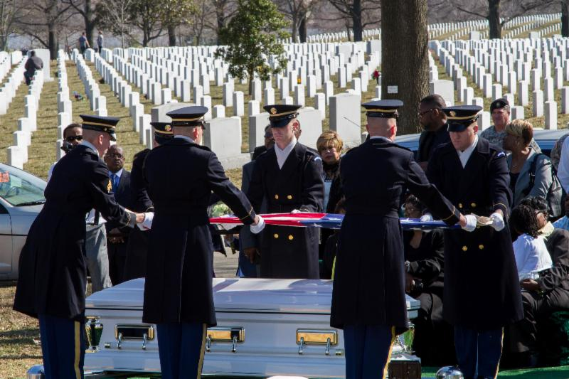 Wyley & Ouida Wright laid to rest at Arlington National Cemetery