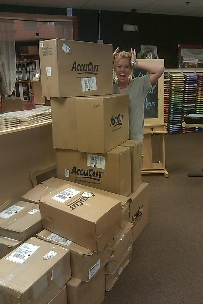 kristen and boxes