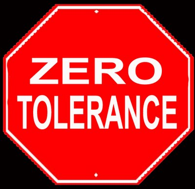 zero tolerance essay Zero tolerancezero tolerancemrs garrison writes end-of-the –year comments in each students' cumulative (cum) records folder a cum folder is a file of general.