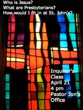 Inquirers Class April 2013