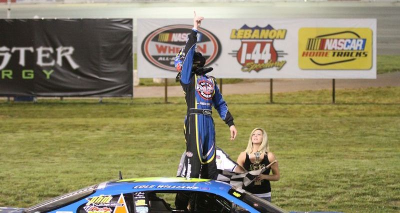 Cole Williams in Victory Lane - Photo by Austin Miller Photography