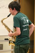 Jazz Camp saxophonist
