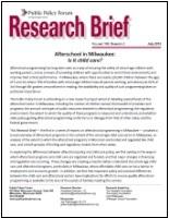 Afterschool Report Cover