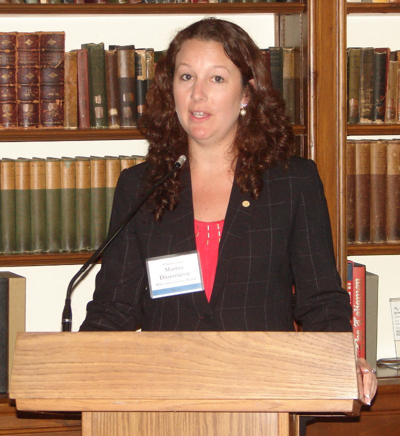 Milwaukee County Board Chairwoman Marina Dimitrijevic