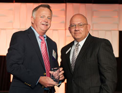 Brad Wicklund receiving his Unsung Legal Hero award