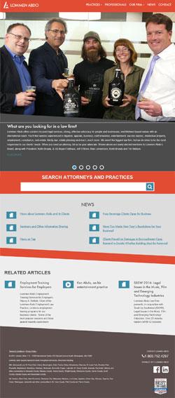 Lommen Abdo Website Redesign 2016