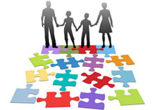 Child custody puzzle pieces