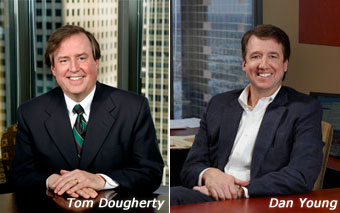 Tom Dougherty and Dan Young, Co-Chairs of Lommen Abdo Business Law Group